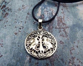 Rabbit Pendant Hare Handmade Celtic Necklace Fertility Wiccan Bronze Jewelry