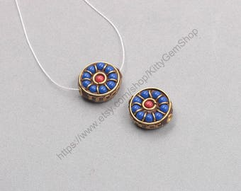17mm Tibetan Brass Beads Nepal Style Bead Handmade Supplies Wholesale GY-S032701