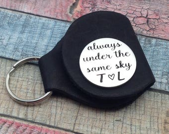 Always under the same sky, Gift for deployment, Deployment token, deployment coin, Long Distance Gift, Military Deployment, deployment token