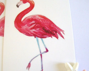 Pink Flamingo Paper Tags,Beach Tags,5 Gift Tags Beach,Beach  Wedding Tags,Tropical Tags,