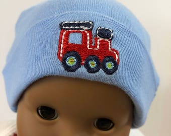 "15 inch Bitty Baby Doll Hat, Cool ""MATCHBOX Fire TRUCK"" Doll HAT, 15 inch Bitty Baby Clothes or Twin Doll, 15 inch Baby Doll Clothes"