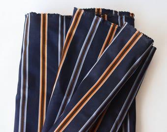 "Vintage Silk Stripe BTY Menswear Tie Fabric 26"" wide -149-B3"