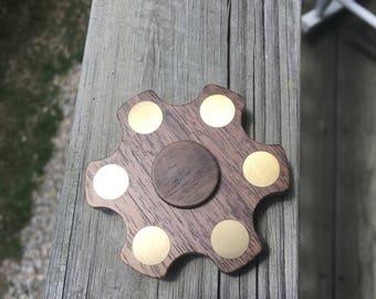 Wood Fidget Spinner- Walnut