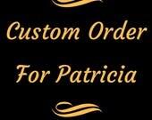 Custom Order For Patricia, Victorian Style Drop Earrings, Mauve Pearl, Black Lucite Flower Earrings, Gunmetal Findings