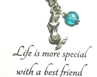 Best Friend Gift Necklace, Mermaid Necklace, Mermaid necklace, Siren necklace, Mermaid jewelry, Gift for her