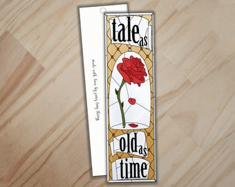 Tale as Old as Time Bookmark - Beauty and the Beast Bookmark