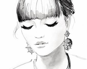 Jewelry (Rock Chic) // Original Beauty Illustration