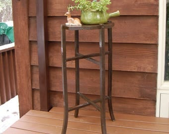 tall wood plant stand vintage plant stand tall wooden plant stand brown wood