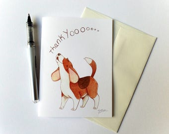 Beagle Dog Thank You Card