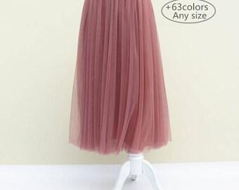 Summer women skirt  Soft tulle skirt Prom skirt