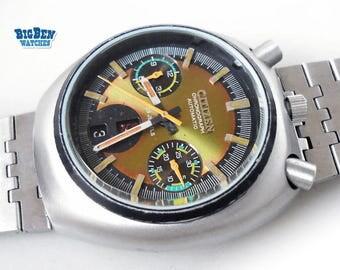 Vintage CITIZEN CHRONOGRAPH BULLHEAD 8110A Challenge Timer Watch