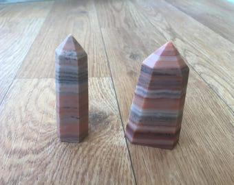 Banded Agate Tower, Agate Crystal, Crystal Point, Healing Crystal