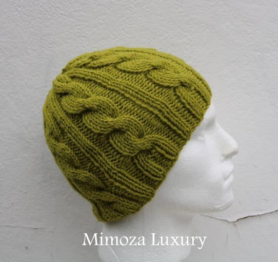 Pistachio Green Men's Beanie hat, Hand Knitted Hat in green beanie hat, knitted men's, women's beanie hat, winter beanie, green ski hat