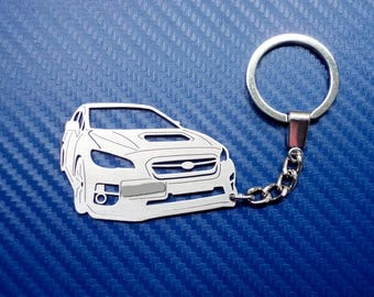 Subaru WRX Key chain, Car Keychain, Personalized Keychain for Subaru, Custom Keychain, Stainless Steel Keychain, Original Personal Gift