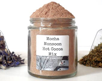 Mocha Monsoon Drinking Chocolate Gourmet Hot Cocoa Mix Foodie Chef Cooking Gift