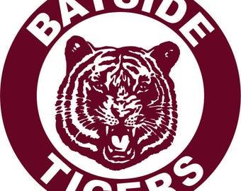 Bayside Tigers iron on decal