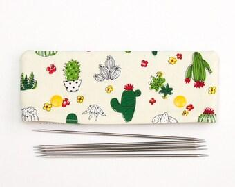 Kitting etsy cactus sock needle holder for 6 inch 15cm double point knitting needles dpn cozy fandeluxe Choice Image