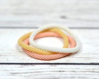 friendship gift ideas stacking bracelet set stretch bracelet bridesmaid bracelet girlfriend gift-for-wife wedding gift-for-mom birthday gift