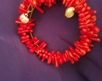 Red bead wrap bracelet