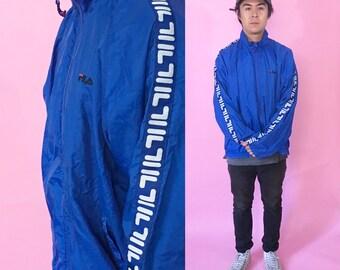 Fila vintage windbreaker jacket size medium 1990s 1980s 90s 80s shell jacket vintage jacket tommy hilfiger nylon