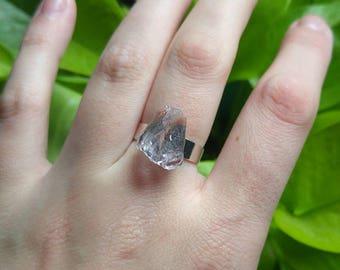 Pale Raw Amethyst Ring