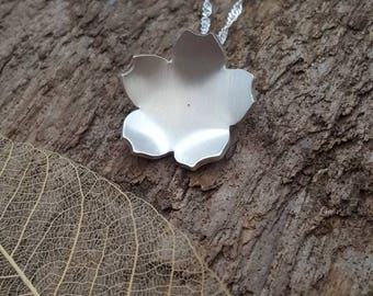 Sterling silver cherry blossom flower