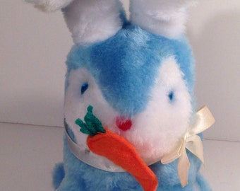 Funny Blue and White Vintage Bunny Battery Operated Interactive Toy offered by Crafts by the Sea