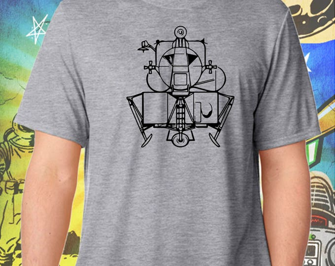 Space Exploration / Apollo Lunar Module / Men's Gray Performance T-Shirt