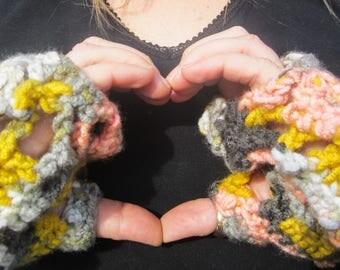 Crochet Fingerless Long Gloves