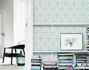 Geometric self adhesive vinyl temporary removable wallpaper for Temporary vinyl wallpaper