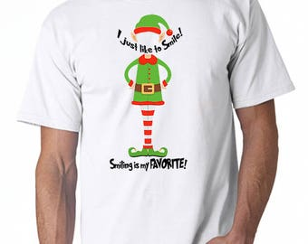 I Just Love to Smile Elf t-shirt