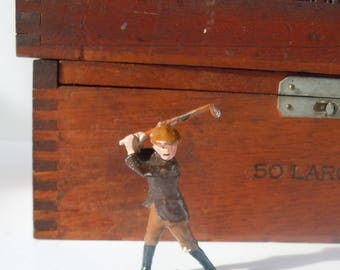 Antique Toy Golfer Figure from a Toy Soldier Company /  Johilco / British Toy