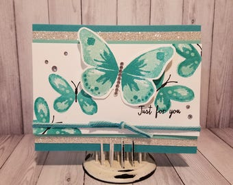 Handmade For You Greeting Card: Butterfly
