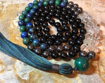 Time to Manifest My Dreams Mala / 108 beads / Manifestation / Abundance / Prosperity / Protection / Healing