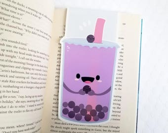 Boba Tea BIG Magnetic Bookmark, Bubble Tea Planner Clip, Back to School, Kawaii Foodie Bookmark, Gift for Teachers, Food Bookmarks