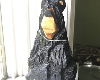 Chainsaw Carving Black Desk Bear
