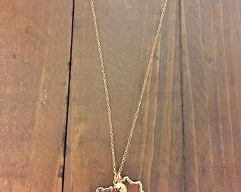 State of Kentucky Necklace - Gold/Silver