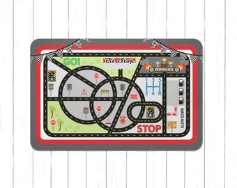 Race Car Playmat   Roads Play Rug   Kids Play Mat   Cars Area Rug