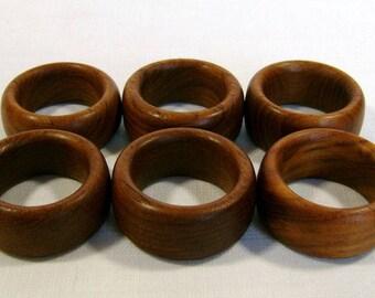 Mid-Century Teak Napkin Rings