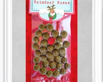 Instant Download Reindeer Noses Bag Toppers in 2 sizes, Christmas Treat Bag Topper, Stocking Stuffers, Holiday Gift for friends and family