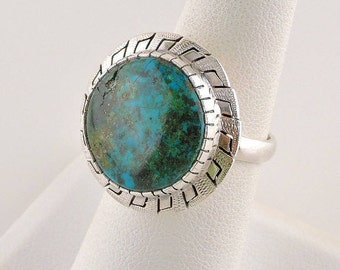Size 7 Sterling Silver And Chrysocolla Ring