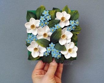Original Paper Quilling Art - Floral Arrangement - Home Decor - Wall Art - First Anniversary - Gift for Women - Housewarming Gift