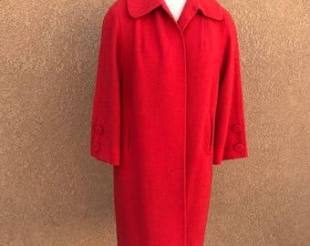 Vintage red coat | Etsy