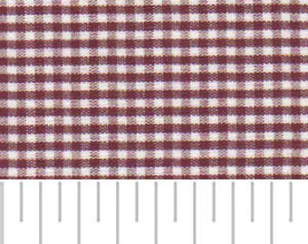 Crimson 1/16 inch gingham fabric by Fabric Finders, garnet gingham fabric by the yard, small gingham check extra wide fabric,gamecock fabric