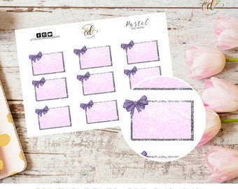 Pastel Bow Half Boxes | Two Dollar Tuesday | Erin Condren Half Boxes | Bow Stickers | Planner Stickers | Spring Planner Stickers | Purple