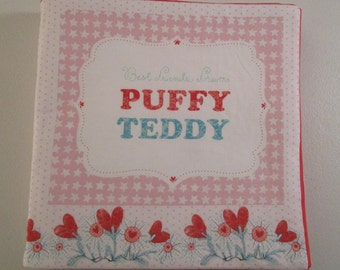 Puffy Teddy Children's Soft Cloth Book/Baby's Book/Washable