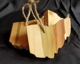 Wood Ohio Ornaments