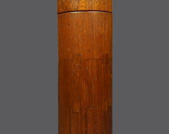 Sowe Konst Sweden Teak Wood Container Wooden Vase Round Mid Century Modern Art MCM MOD Home Decor