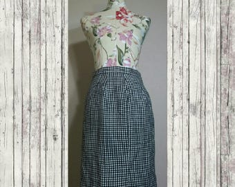 1980s Houndstooth Skirt Size 8
