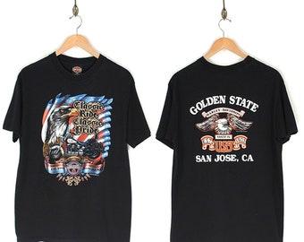 Vintage Eagle Harley Davidson T-Shirt - 1991 Harley Davidson Classic Ride Classic Pride Eagle T-shirt - 90s Harley Davidson San Jose T-shirt